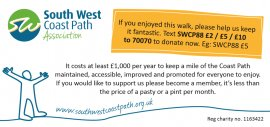Enjoyed the walk? Help improve the path. Just Giving.